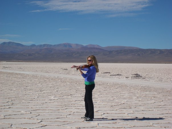 Lizzie on the Salta Salt flats Argentina